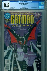 BATMAN BEYOND #1 (1999) CGC 8.5 WP, FIRST COMIC BOOK APPEARANCE TERRY McGINNIS