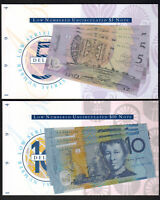 (1994) $5 & $10 - Fraser/Evans. Matched Low Serial Numbers x 3 CONSEC Pairs NPA