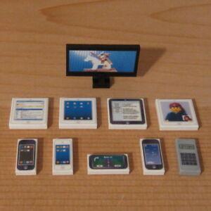 DadventureDan's CUSTOM HIGH TECH DEVICES PACK for LEGO town phone tablet tv set