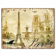 PP0774 Vintage Paris Sign Rustic Parking Plate Home Restaurant Cafe Gift Decor