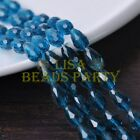 New 30pcs 12X8mm Faceted Teardrop Crystal Glass Spacer Loose Beads Peacock Blue