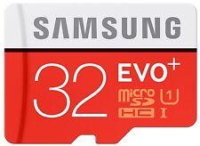 32GB samsung evo plus microsd uhs-i classe 10 jusqu'à 80MB/s W-20MB/s + adaptateur sd