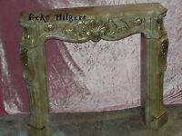 Kaminkonsole Kaminverkleidung Kaminumrandung Säule Marmor Optik Möbel 1840 Fa124
