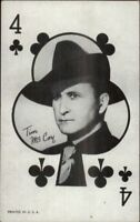 Cowboy Actor Exhibit Card Poker Playing Card James Arness 4 of Clubs