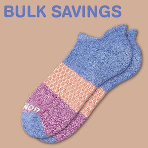 Marled-Violet-Magenta Bombas Tri-Color Men's Ankle Socks Medium ~ BULK SAVINGS ~