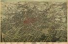 Map of Atlanta - Fulton County Georgia c1892 repro 24x36