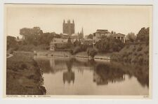 Herefordshire postcard - Hereford, The Wye & Cathedral