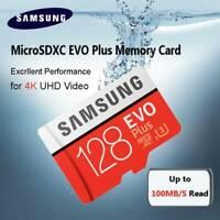 Samsung 128GB EVO Plus UHS-I U3 Class 10 MicroSDXC Micro SD Memory Card Adapter