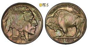 1935 Buffalo Nickel PCGS MS63 Amazing Toning Please View Pics