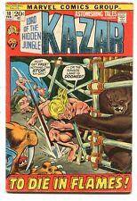 Astonishing Tales 10 VG+ Marvel Comics *CBX2D