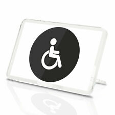Disabled Toilet Sign Vinyl Classic Fridge Magnet - Door Business Cool Gift #7841