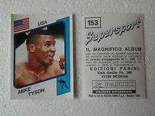 Mike Tyson Figurine Supersport Panini 1986 con velina Mint Sticker #153 Perfect