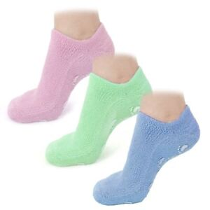 New Moisturising Gel Socks Vitamin Foot Care Soft Comfy Silicone One Size Pair