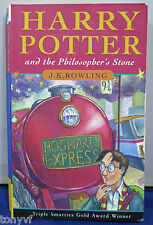 HARRY POTTER & THE PHILOSOPHER'S STONE JOANNE ROWLING UK PB BOOK 12th PRINT RUN
