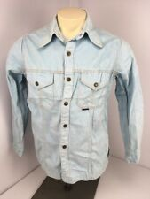 Vtg Red Snap Denim Chambray Jean Western Snap Front Work Shirt Collared Cowboy L
