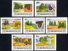 Mongolia 1982 Pino/Alerce/Abedul/Abeto/Árboles/Plantas/Naturaleza/conos 7 V Set (n17586)