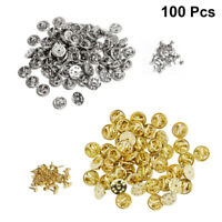 100 Sets Butterfly Pin Backs Brooch Clasps Lapel Holder Pins Jewelry Accessories