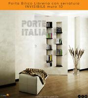 Porta Bilico Libreria con serratura INVISIBILE muro 10
