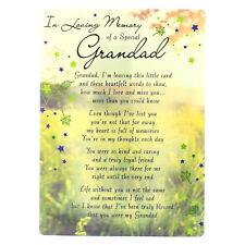 In Loving Memory ouverte Enterrement Memorial Carte-SPECIAL Grandad