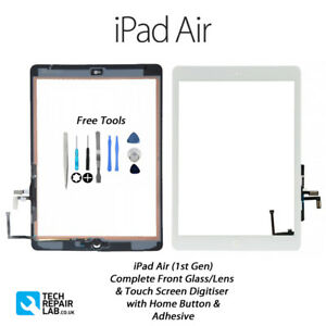 iPad Air (1st Gen) Complete Front Glass Digitiser Touch Screen Assembly - WHITE