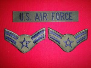 U.S AIR FORCE Pocket Tape + Pair Of USAF AIRMAN Large Chevrons