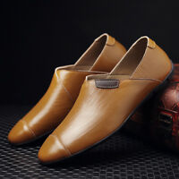 Fashion Italian Style Mens Causal Shoes Genuine Leather Comfort Loafers Outdoor