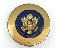 Henriette Military Sweetheart Powder Compact WWII Camp Kilmer NJ US Army Logo