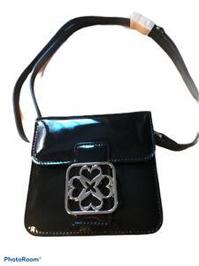 LK Bennett Hilton Mini Shoulder Bag Patent Leather Deep Blue / Navy