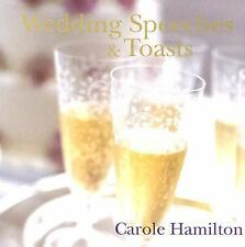 Wedding Speeches & Toasts by Carole Hamilton $15 DEAL