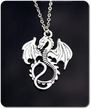 Halskette Drache Kette Anhänger Metall Versilbert Game auf Trones Herren Damen