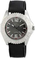 Time Tech Herrenuhr Anthrazit Schwarz Analog Silikon Armbanduhr X-227421000020