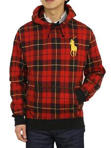 Polo Ralph Lauren Big Pony Pullover Parka Hooded Hoodie Sweatshirt Plaid