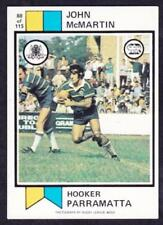 Parramatta Eels 1974 Season NRL & Rugby League Trading Cards