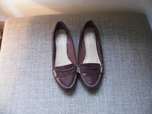 New Look Burgundy Loafers size 6 wide fit