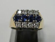 Safirring Saphir Diamantring 18k. 750 Gold 28 Brillanten 0,50 ct. 8014