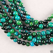 Details about  6mm Azurite Chrysocolla Round Gemstone Loose Bead 15''