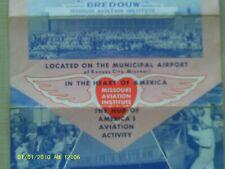 RARE 1940s BROUCHER BREDOUW AVIATION SCHOOL KANSAS CITY MO AIRPORT TWA AIRPLANES
