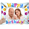 Kids Child Aluminium Foil Balloons Photo Frame Props Party Happy Birthday Decor