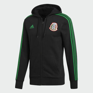 ADIDAS MEXICO 3-STRIPES FULL ZIP HOODIE FIFA WORLD CUP 2018 Black/Green