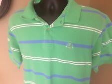 IZOD L Classic Crest Polo Cotton Pique Short Sleeve Mens Mint Green/ Blue large