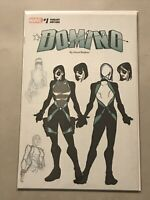 DOMINO #1 DAVID BALDEON DESIGN VARIANT COVER 2018 deadpool x-force cable rare