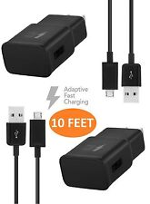 Lg V10 Charger (10 Feet) Micro Usb 2.0Cable Kit by TruWire {2 Fast Wall Charg.
