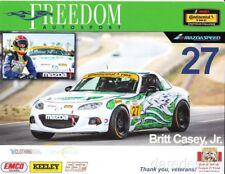 2014 Britt Casey, Jr. Freedom Autosport Mazda MX-5 Miata ST IMSA CTSC postcard