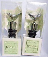 New listing 2009 Kate Aspen Lovebirds Chrome Bottle Stopper Set Of 2 Nwt
