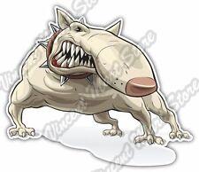 """Bull Terrier Evil Dog Killer Fighting Beast Car Bumper Vinyl Sticker Decal 5""""X4"""""""