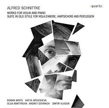ALFRED SCHNITTKE: WORKS FOR VIOLIN AND PIANO; SUITE IN OLD STYLE FOR VIOLA D'AMO