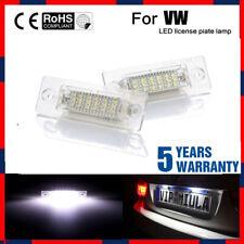 2x LED Number License Plate Light For VW Golf Jetta MK5 Passat Touran ERROR FREE