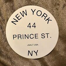 NEW YORK 44 PRINCE ST. NY BRANDY MELVILLE STICKER BLACK AND WHITE CIRCLE