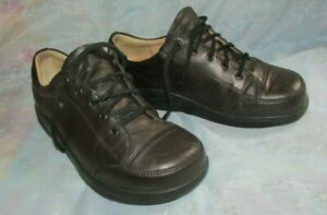 Women's FINN COMFORT Bronze Leather Lace Up Shoes Size 6 1/2 Germany/ 8.5 US