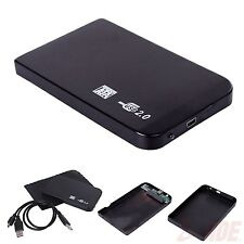 "Black USB 2.0 SATA 2.5"" Portable HDD Hard Disk Drive 500GB Enclosure HD Case Box"